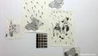 Ricami di Liana Zanfrisco, Galleria Kissthedesign, Losanna (Ch).