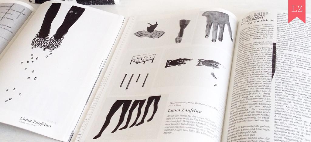 Prolog zeichnung und text, rivista