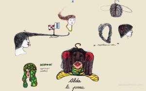 Copricapi, disegno digitale di Liana Zanfrisco.