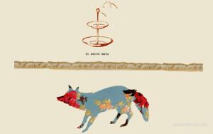 Il servo muto, disegno digitale di Liana Zanfrisco.