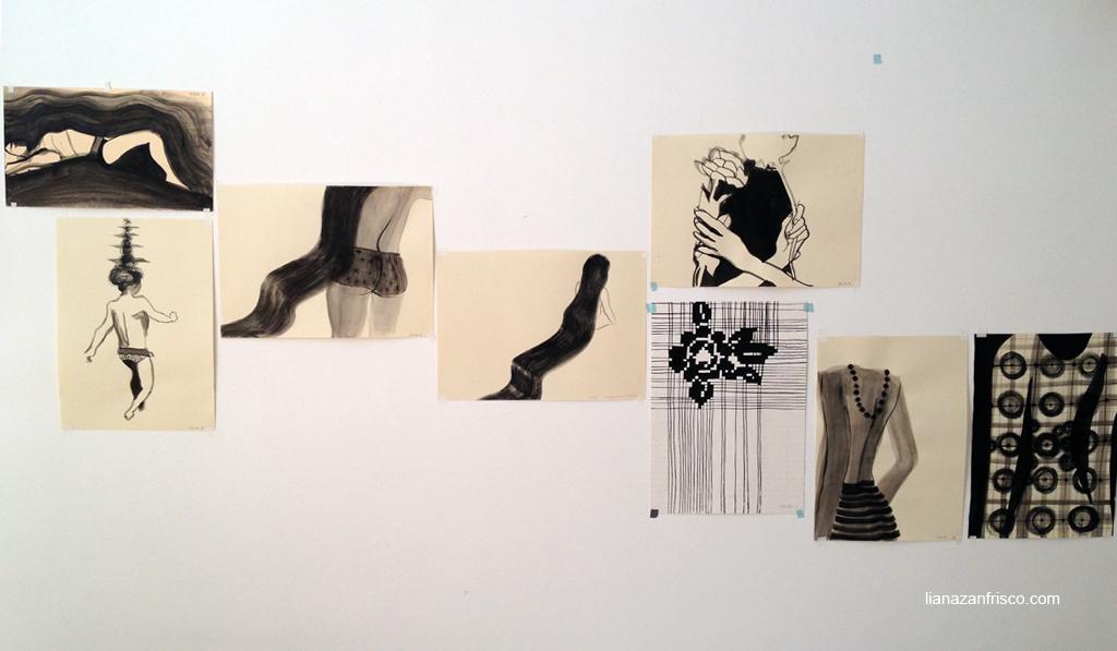Della serie arte del riordine, il gruppo di disegni del lunedì.