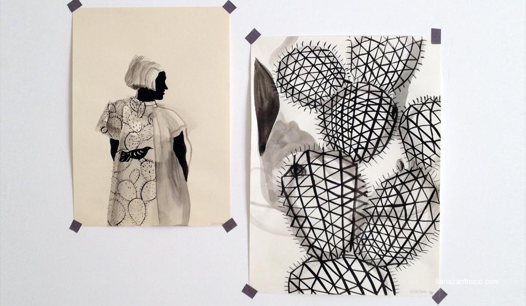 Serie dei disegni bianco nero.