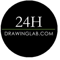 Disegno contemporaneo logo 24hdrawinglab.